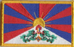 Tibet Embroidered Flag Patch, style 08